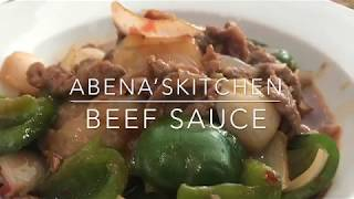 My Simple Beef Sauce Recipe