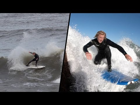 CATCH SURF SOFT TOP vs FIBER GLASS SURFBOARD
