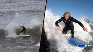 CATCH SURF SOFT TOP vs FIBER GLASS SURFBOARD