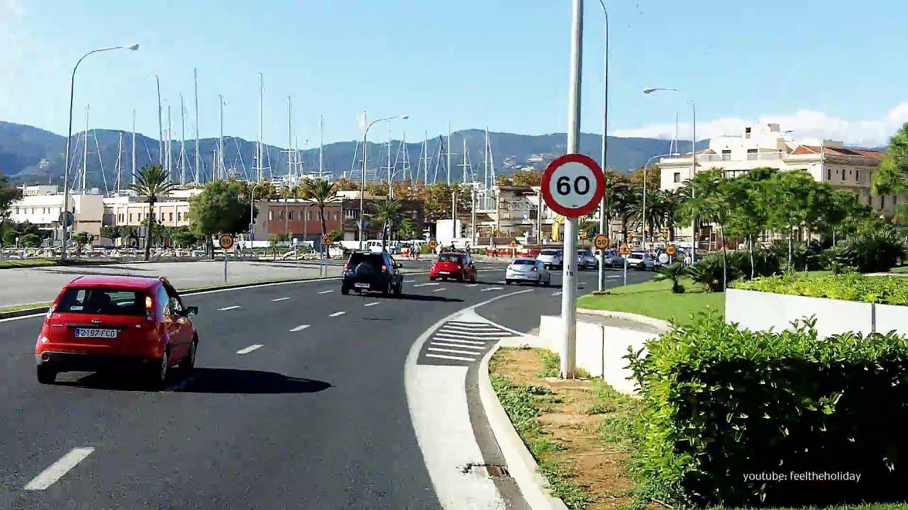 Autobus palma de mallorca puerto andratx part 1 paseo - Transportes palma de mallorca ...