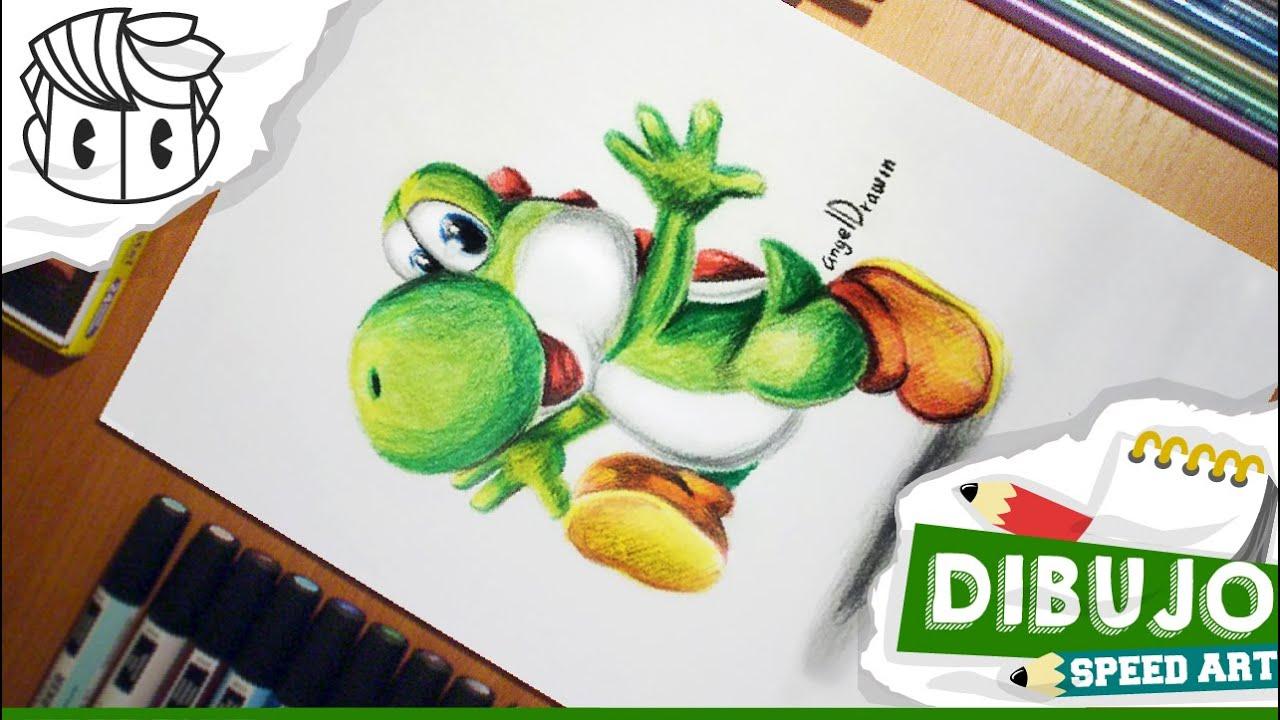 DIBUJO SPEED DRAWING YOSHI  Mario Bros Colors  How to draw