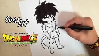 COMO DIBUJAR A BROLY NIÑO | DRAGON BALL SUPER BROLY | how to draw broly boy