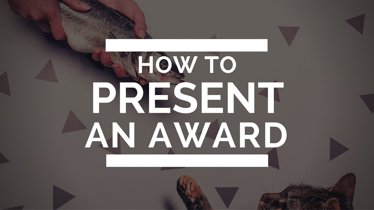 How to present an award - YouTube