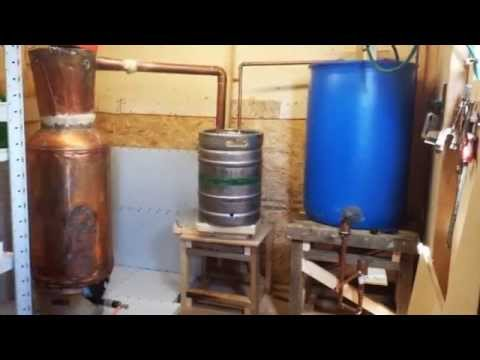 Moonshine pot still made from copper water heater youtube for Copper hot water tank