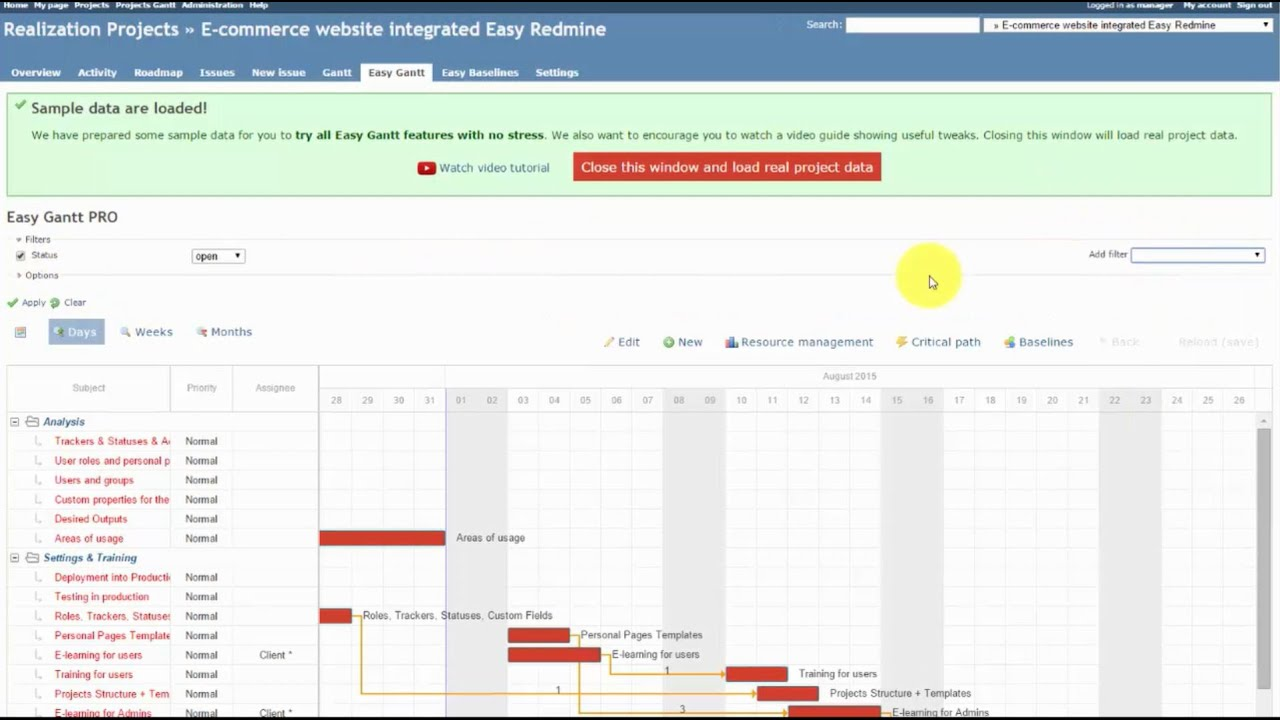 Redmine Easy Gantt Pro Features Overview Httpseasyredmine