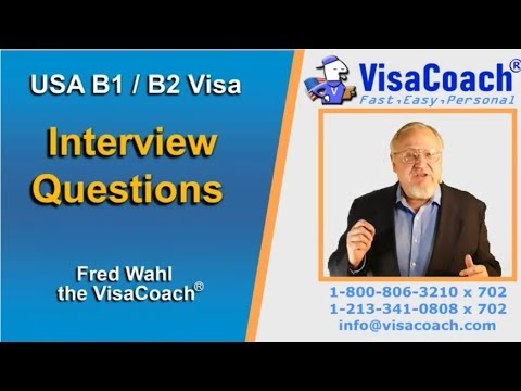 USA B1 B2 Visa Interview Questions And Answers