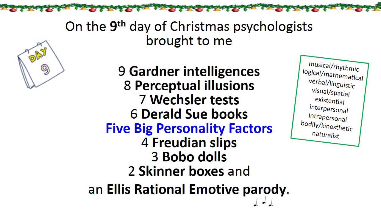 sing a long psychology twelve days of christmas lyrics full length