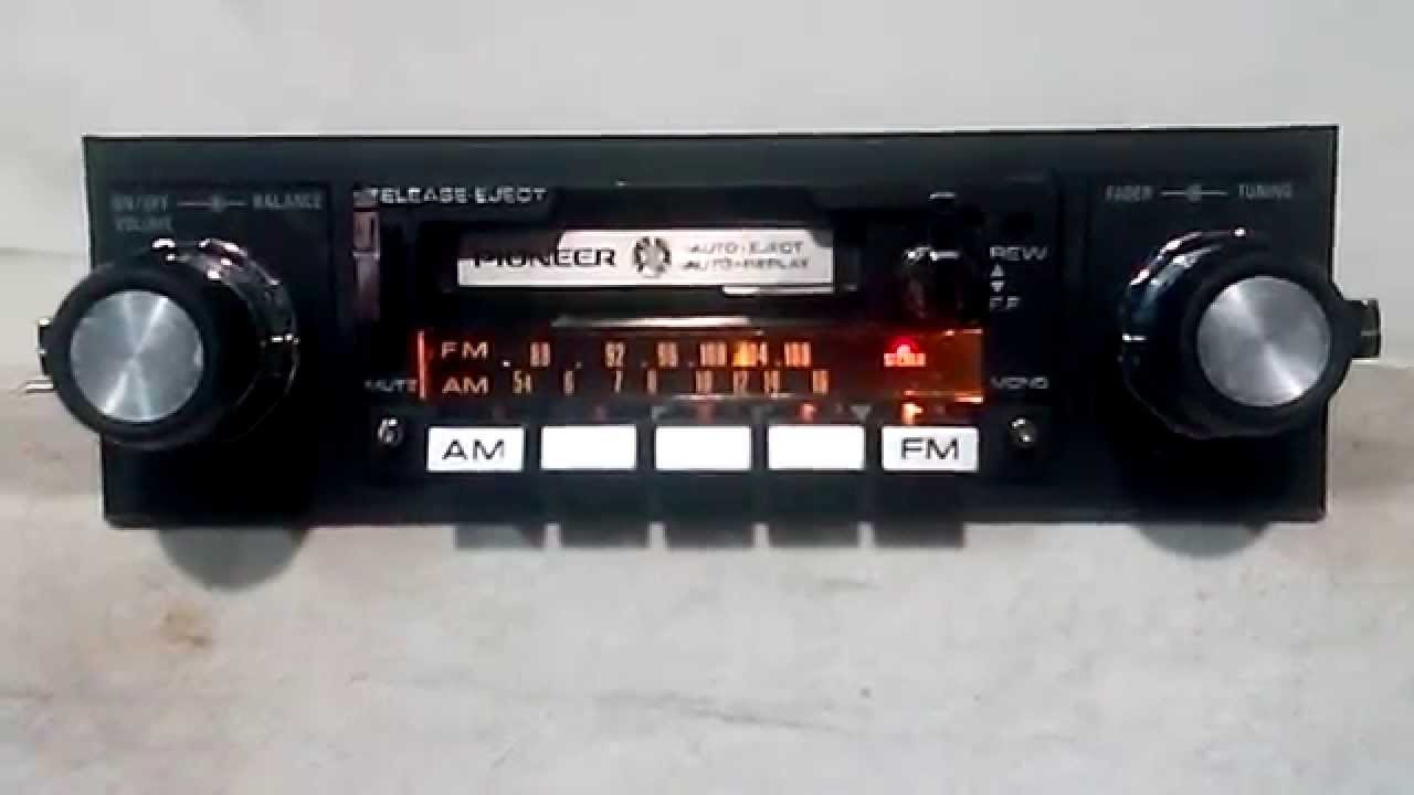 Vintage Pioneer KP-5500 am/fm cassette car stereo #2 - YouTube