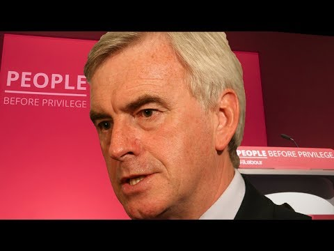Watch again: John McDonnell addresses Labour Party Conference 2019