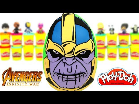 Huevo Sorpresa Gigante de Thanos de Vengadores Infinity War en Español Plastilina Play Doh
