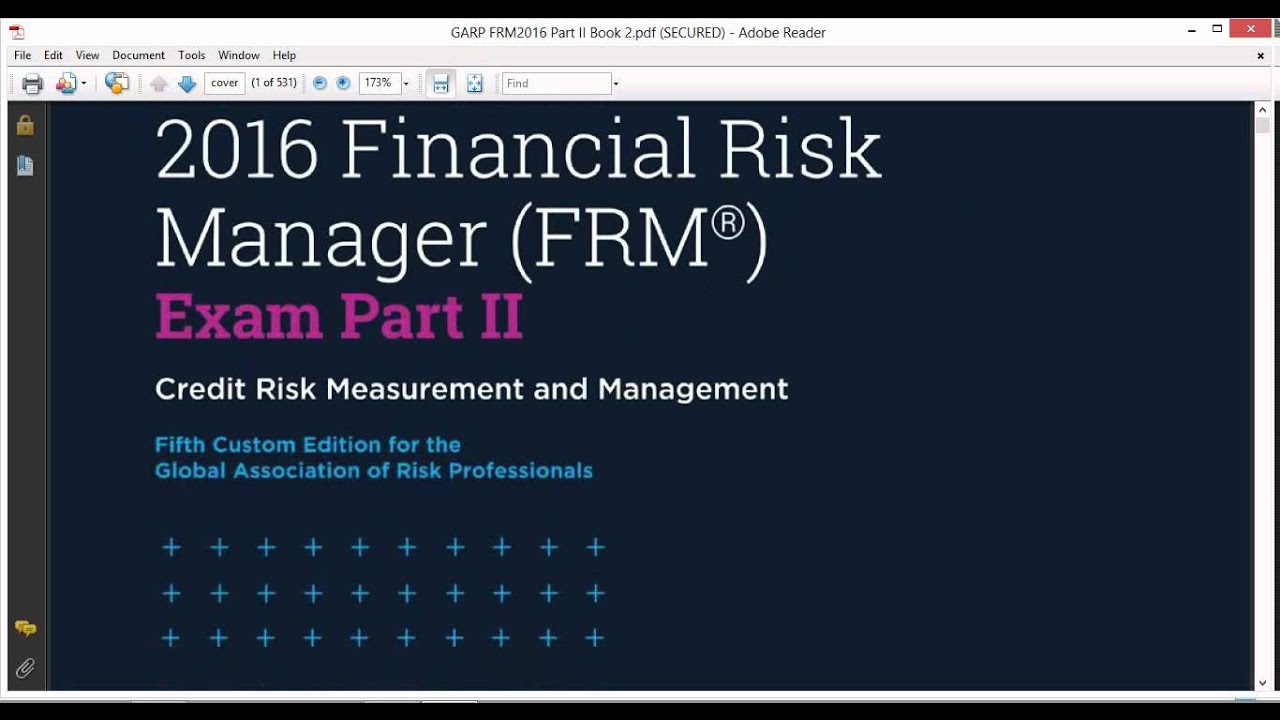 Managing pdf and risk measuring credit