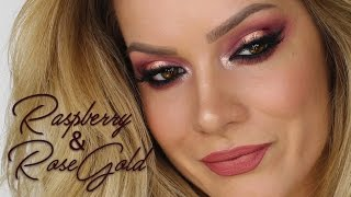 Raspberry & Rose Gold Eyeshadow With A Matching Lip | Shonagh Scott | ShowMe MakeUp NEW