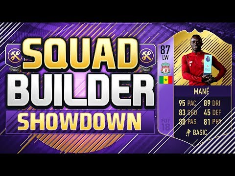 FIFA 18 SQUAD BUILDER SHOWDOWN!!! PLAYER OF THE MONTH MANE!!! SBC 87 Rated Mane