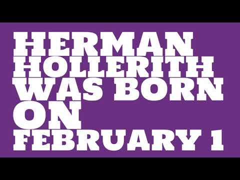 Who does Herman Hollerith share a birthday with?