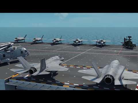 HMS Queen Elizabeth & F-35B Lightning CGI Tour