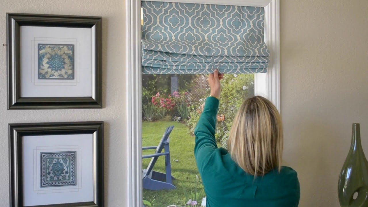 How To Use Roman Window Shades With Hidden Pull Cord Youtube
