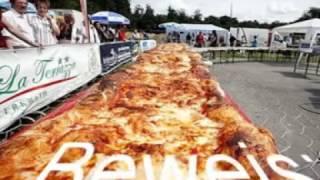 ***NEW***Weltrekord Europarekord Pizza (Longest Largest Pizza)