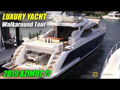 2019 Azimut 77 Luxury Yacht - Deck And Interior Walkaround - 2018 Fort Lauderdale Boat Show