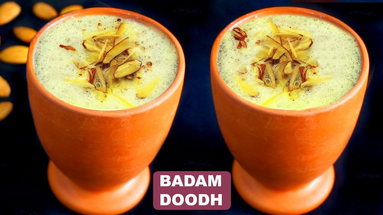 बादाम दूध Recipe in Hindi   Badam Kesar Milk Recipe   Winter Special    CookWithNisha