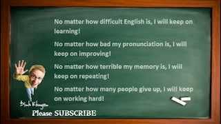 Best English Lessons: Lesson 6: Never Give Up