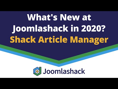 Shack Article Manager: Write And Manage Articles From The Joomla Frontend