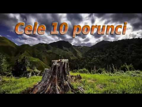 CELE 10 PORUNCI DUMNEZEIESTI SI EXPLICATIA LOR