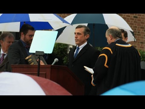 Rainy inauguration for Delaware's 74th Gov. John Carney
