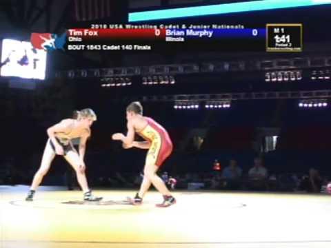 Cadet Freestyle Finals 140 pounds - Brian Murphy vs. Tim Fox
