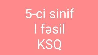 5-ci sinif I fəsil üzrə KSQ (metodik vesait)