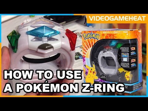 Pokémon Z-RING For Sun & Moon 3DS | How To Use |  Z-Move Sets Crystals | By TOMY Toys