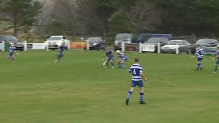 Liam MacDonald scores to make it Newtonmore 0 Kilmallie 1 on 2nd March 2019  Mowi Premiership