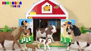 Aprende Nombres y Sonidos de Animales dela Granja 🐮🐷 Videos infantiles ✨ Mimonona Stories