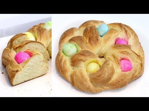 How to Make Braided Easter Egg Bread Ring | Homemade Egg Bread | Homemade Bread | RECIPE
