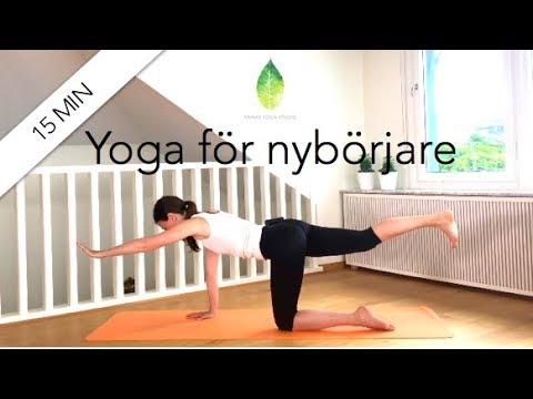 15 min yoga för nybörjare  - Annas yoga studio
