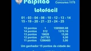 LOTOFACIL CONCURSO 1175  25022015