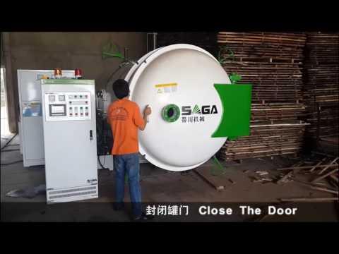 Radio Frequency Vacuum Wood Dryer Kiln Machine From SAGA Machinery