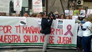 Concentración en Cáceres para pedir mejoras en la sanidad de la provincia