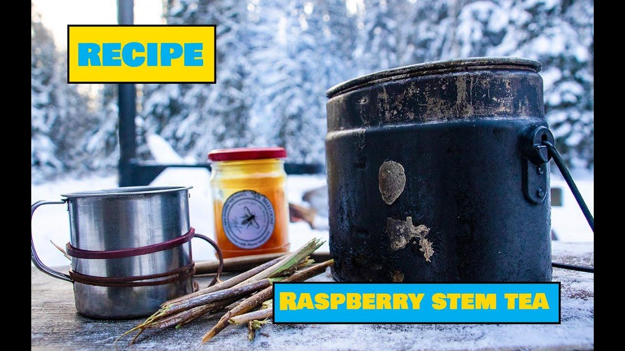 Raspberry Stem Tea / Vaarikavarre tee - Easy Outdoors Cooking
