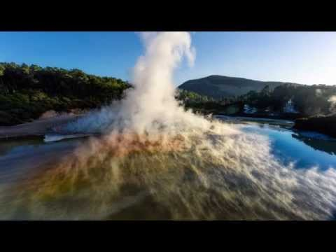 Wai-O-Tapu by UAV drone - Chris McLennan