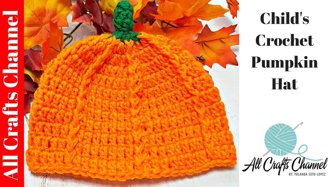 Crochet Pumpkin Hat Youtube