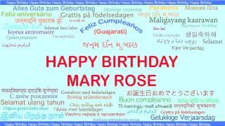 MaryRose   Languages Idiomas - Happy Birthday