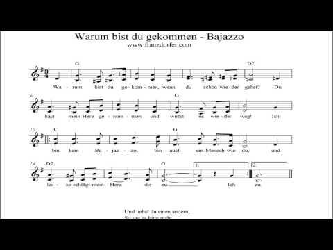 Bajazzo -- warum bist du gekommen - instrumental