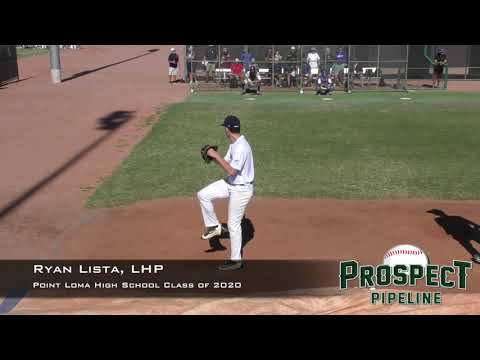 Ryan Lista Prospect Video, LHP, Point Loma High School Class of 2020