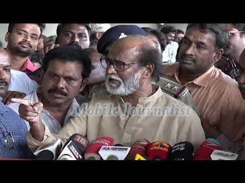 பத்திரிகையாளரியிடம் ரஜினி ஆவேச பேச்சு | Sterlite Issues | Chennai Airport | Rajini Press Meet