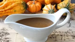 Turkey Gravy with Porcini Mushrooms and Marsala Wine - Make-Ahead Thanksgiving Turkey Gravy Recipe