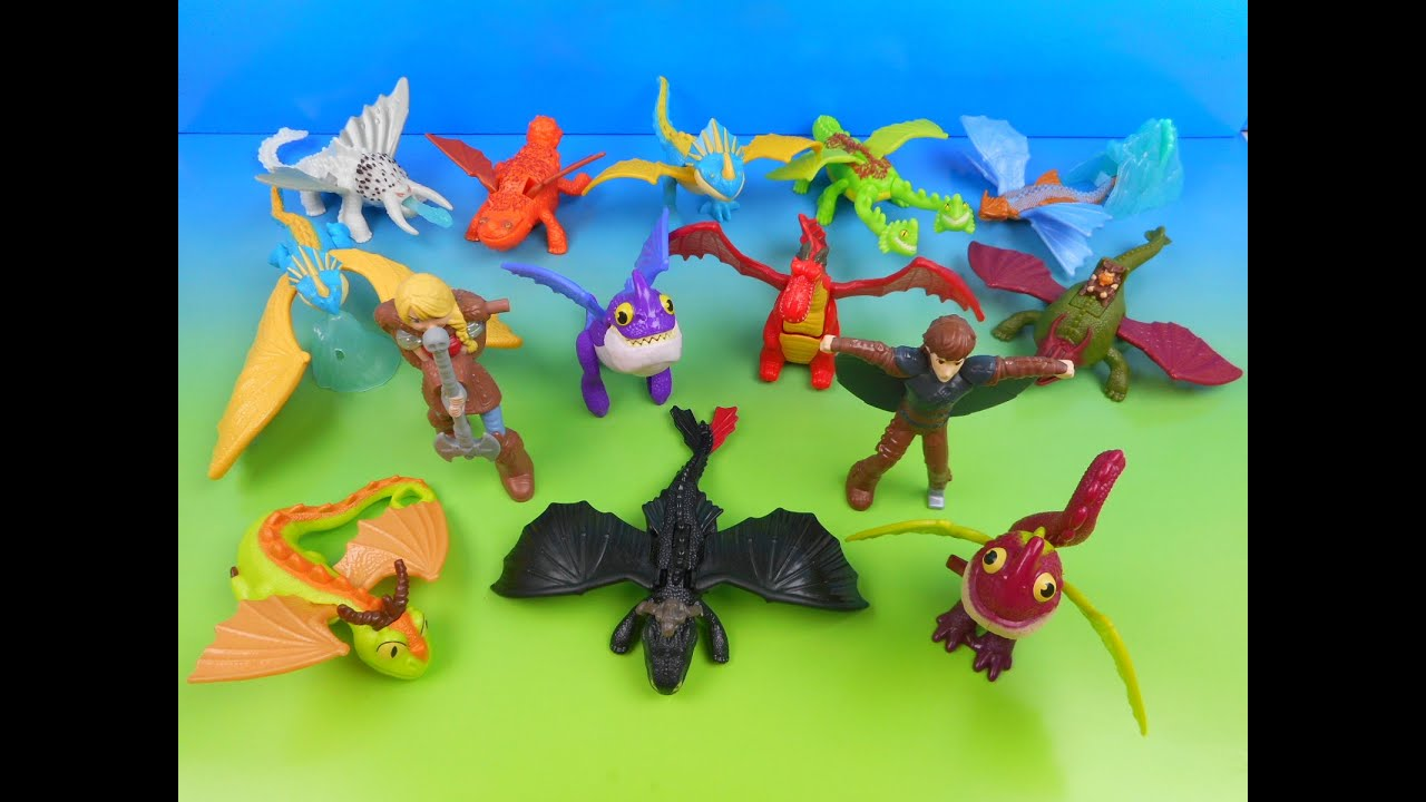 2014 HOW TO TRAIN YOUR DRAGON 2 SET OF 14 McDONALD S HAPPY MEAL