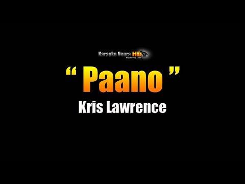 PAANO - Kris Lawrence (Karaoke)