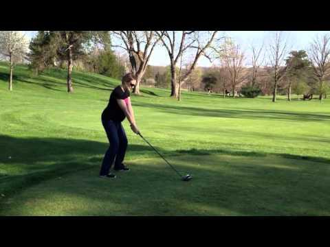 Pregnant Golfer