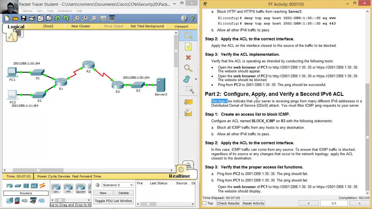 packet tracer 6.3.1.3