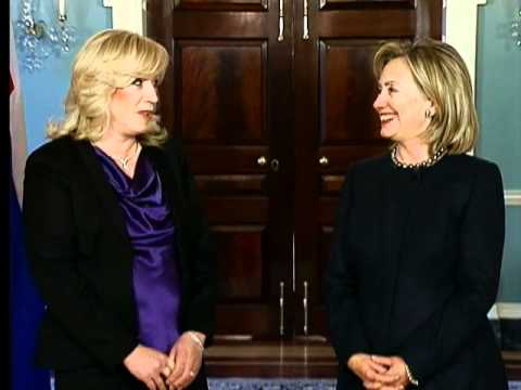 Secretary Clinton Holds a Bilateral Meeting With Slovak Prime Minister Radicova